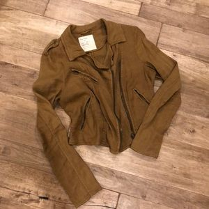 Free people brown linen blazer